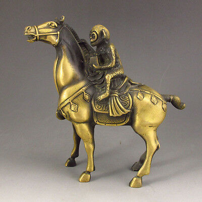 Chinese Bronze  Statue ---- Monkey riding a horse