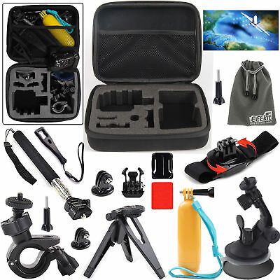 EEEKit Carrying Travel Bag+Selfie Stick+Handlebar Mount+Tripod Stand for Gopro