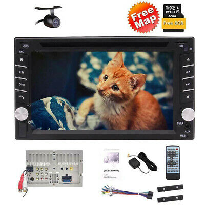 "Backup Camera+GPS 6.2"" Double 2 Din Car Stereo Radio DVD HD mp3 Player Bluetooth"