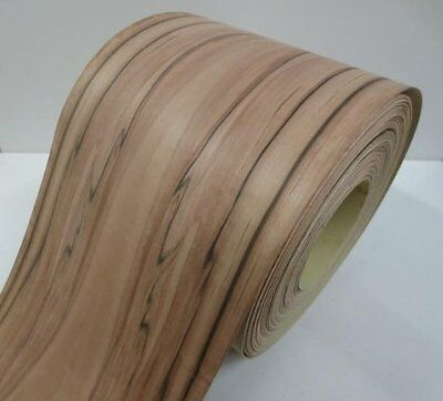 Real wood Veneer Apple indian with Hot melt adhesive iron-on 30 cm Wide