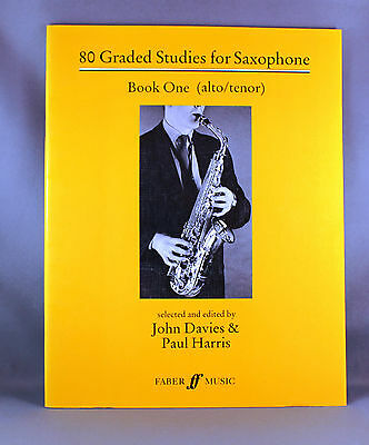 80 Graded Studies for Saxophone Book One (1-46) - Brand New