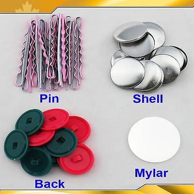 100 Sets 3 Kind Accessories Hair Band Hair Pin Tie Band Parts for Button Maker
