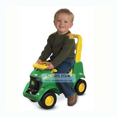 John Deere Sit n Scoot Tractor Vehicle with Farm Animal Outdoor Activity Toy