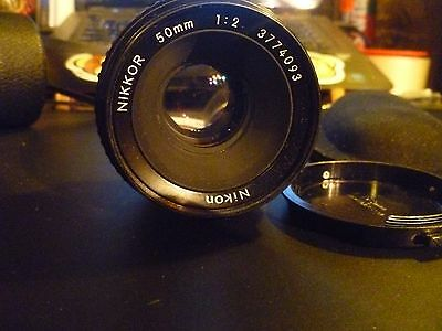 Excellent+++! Nikon Nikkor 50mm F 1:2 Ai Lens from Japan FREE PRIORITY MAIL SHIP