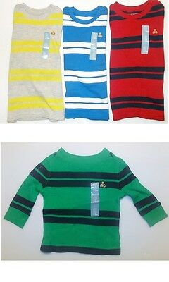Baby Gap Toddler Boys Long Sleeve Thermal Shirts 3 Choices Sizes 3-6M 4T 5T NWT