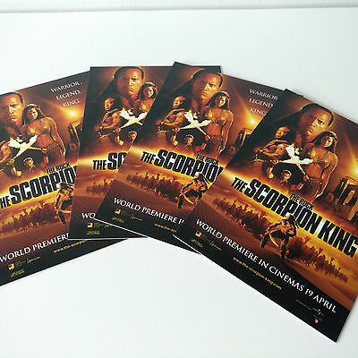 The Scorpion King Movie Postcards x4 NEW Film Collectables 4x6 Cardboard Print