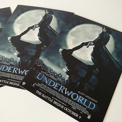 Underworld + Evolution Set of Movie Postcards x6 NEW Film Collectables 4x6 Size