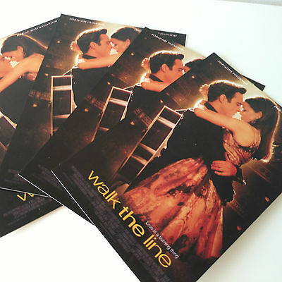 Walk The Line Movie Postcards x4 NEW Film Collectables 4x6 Cardboard Print