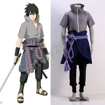 Custom-made 2016 Anime Naruto Uchiha Sasuke 6th Halloween Cosplay Costume