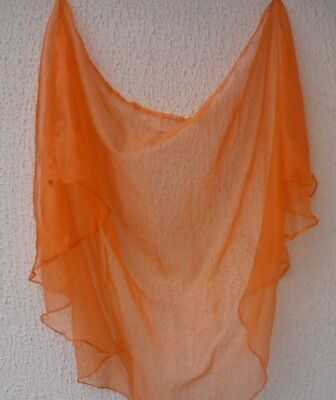 Bauchtanz Halbrundschleier aus Organza orange belly dance veil Bollywood