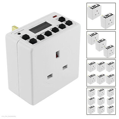 1/2/3 Digital Timer Switch Plug 24 Hour 7 Day Socket LCD Programmable UK Mains