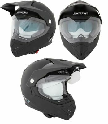 Spada Intrepid DVS Inner Sun Visor Off Road MX Motorcycle Helmet - Matt Black