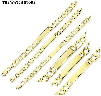 Solid 9ct Yellow Gold Baby Kids  I.D Bar Christening Bracelet **FREE ENGRAVING**