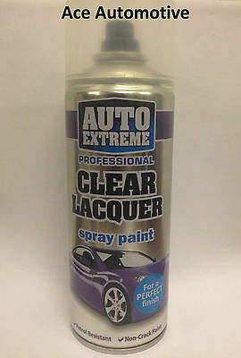Clear Lacquer Aerosol Spray Cans 400ml Car Auto Extreme Spray Paint New