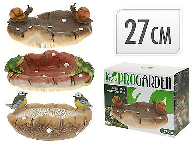 Garden Bird Bath Garden Wild Bird Feeder Windowsill Wall Top Display 3 Designs