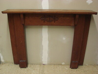 Antique Late 1800's Salvaged Ornate Fireplace Half Mantel Ornate Design B