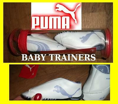 Newborn Baby girls Infant PUMA  Trainers Lavender/ White NEW Size 2 3 4