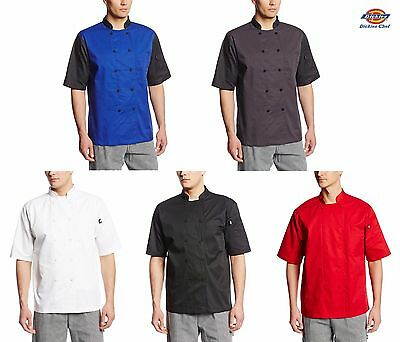 Dickies Lightweight Cool Breeze Chef Coat Short Sleeve w/ Mesh Vent Inlay DC105