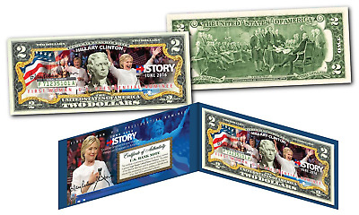 HILLARY CLINTON Historic 1st  Woman U.S. President Nominee OFFICIAL $2 Bill