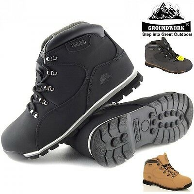 Mens Groundwork Lightweight Steel Toe Cap Safety Work Boots Black Trainers Sizes