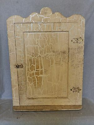 Antique Wood Surface Mount Medicine Cabinet Cupboard Farmhouse Barn Vtg 950-16