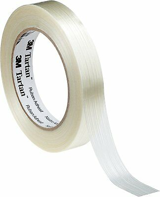 3M Tartan Reinforced Glass Filament strong Strapping Tape 12mm x 55m 8934