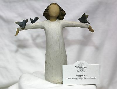 ANGEL statue figurine Peace Doves Bird SOAR Willow Tree Birthday gift  HAPPINESS
