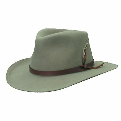 Scala Classico Men's Putty Crushable Felt Outback Hat