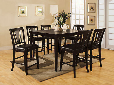 MODERN DINING ROOM 7pc Dining Set Counterheight Table Chairs ...