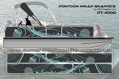 **NEW AND UNIQUE** DIY WRAPPING Pontoon wrap graphics decal stickers