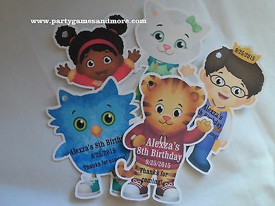 Unique Personalized Daniel Tiger's Neighborhood Birthday Party Favor Gift Tags