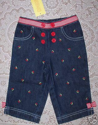 NWT 6-12 Months Gymboree GOOD OLD DAYS Sailor Cherry Embroidered Denim Jeans 0568ea4831a