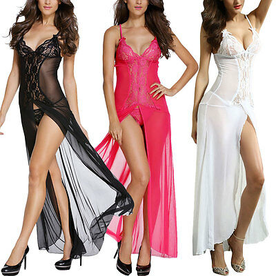 Bride to Be White Long Sleepwear V-Neck Night Gown Lingerie 6143 M L XL