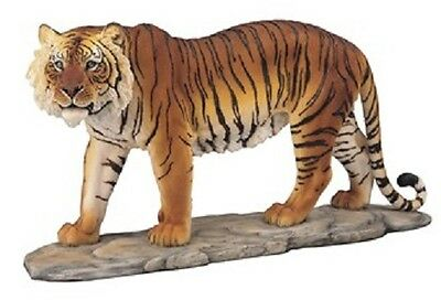 "15.5"" Bengal Tiger Collectible Wild Cat Animal Decoration Figurine Statue"