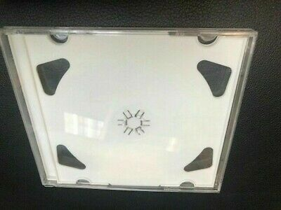 100 New Double 2 Cd Jewel Cases With White Tray 2Cdwht