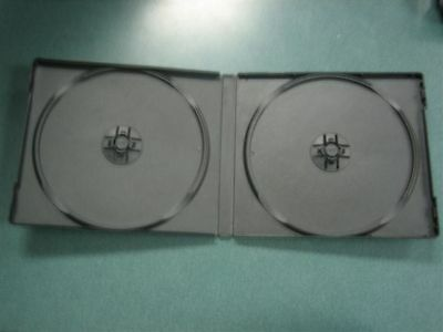 200 New Double Cd Poly Cases, Black, Psc30