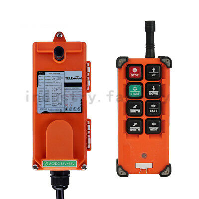 Transmitter+Receiver 8 Keys Hoist Crane Radio Industrial Wireless Remote Control