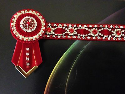 Red / Gold Bling  Browband