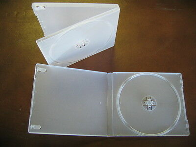 100 Single Cd Dvd Poly Cases, Frosty Clear Psc12