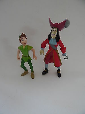 Disney Peter Pan And Captain Hook Figures/cake Decorations