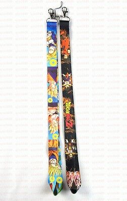 New 10pcs Dragon Ball Z Mobile Phone Lanyards Neck Straps Charms ID Card Holder