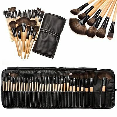 Professional Makeup 32Pcs Brushes Set Kit Cosmetic Blush Powder Tool + Pouch Bag