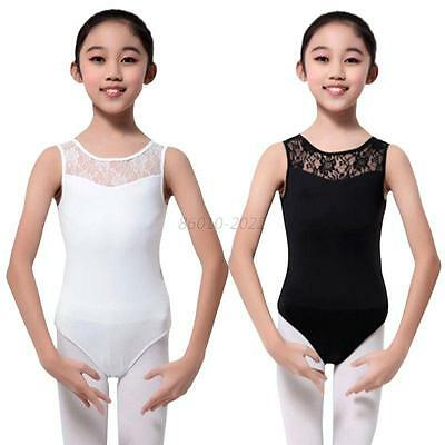 Kids Child Girl Dance Leotard Stretch Bodysuit Ballet Training Dress Costume Top