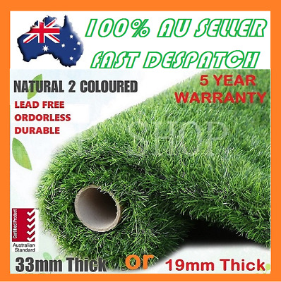5-100 SQM Artificial Grass Synthetic Turf Plastic Plant Fake Lawn Flooring Green