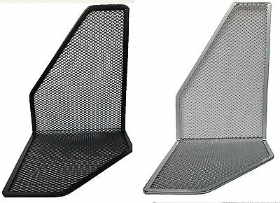 Pair Of Metal Mesh Silver Black Bookends Book Ends