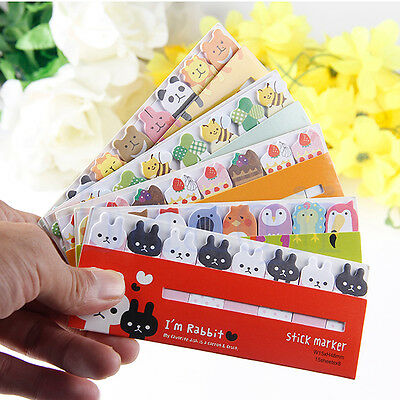Vivid Animaux Autocollant Post It Marque-page Bookmark Mémo Tab Sticky Notes HG
