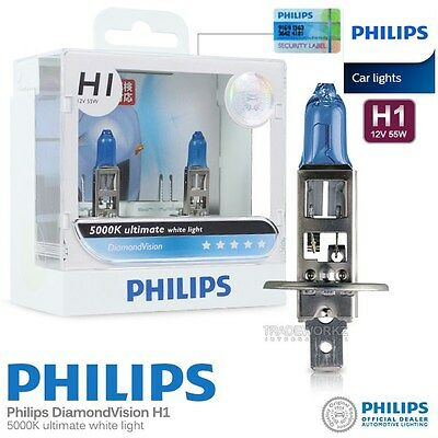 Genuine PHILIPS H1 Diamond Vision Hi Lo Halogen Bulb 5000K 12V 55W Car Light