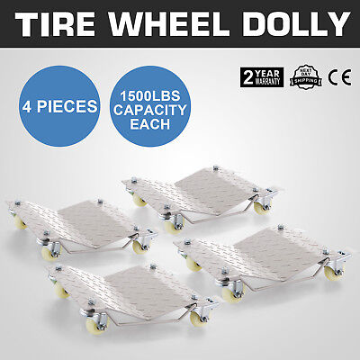 4pcs Car Wheel Dollies Dolly Skate Car Van Positioning Trolley20 Lbs Per Dolly