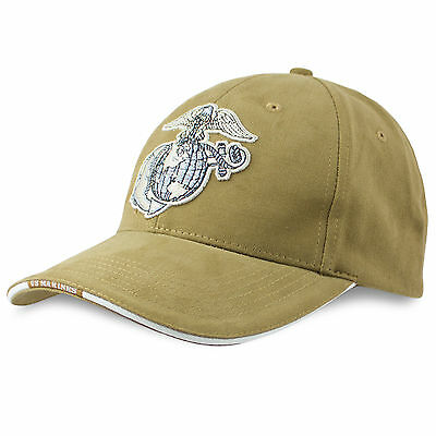 Rothco Official USMC Marines Navy Cotton Twill Baseball Cap Hat Coyote Tan NEW