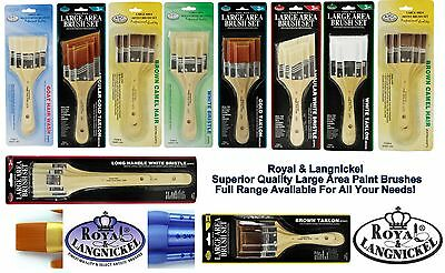 Artist Paint Brushes Sets Of 3 Size 1/2/3 Inch Soft Stiff Large Area Brush Art